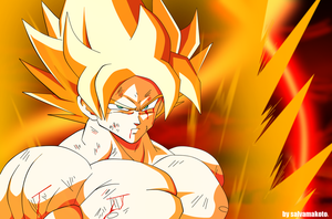 GOKU The Super Saiyan by salvamakoto