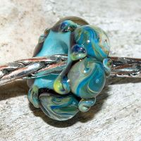 Bunting Glass Charm Bead by copperrein