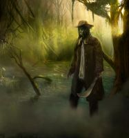 Guy in swamp by rastaray