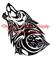 Tattoo Design - Tribal Wolf by Lorr
