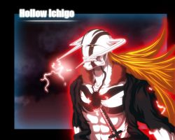 Hollow Ichigo coloured by benderZz