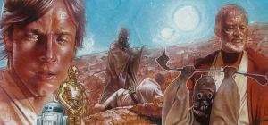 Tatooine - Triple Sketch card by JeffLafferty