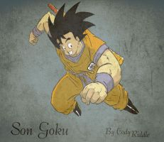 Goku flying by EarthsSaviorSonGoku