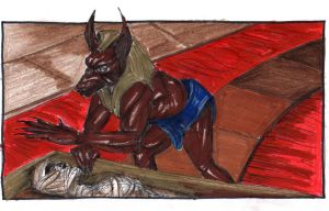 Anubis Waking the Dead by ville2me