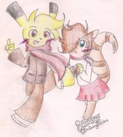 .:Cole And Sarla:. by CreamPuff-Pikachu