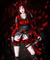 Red night by harlequindoll13