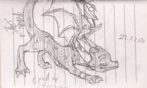 Cynder Streching by afromark