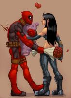deadpool x 23 comish by redeve