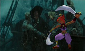 Barbossa vs Gerudo Guard by JediMasterLink18