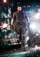 Fighting for better future! 2 (Chris Redfield) by kingofshadows26
