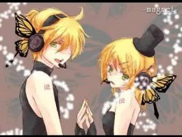 Magnet-Rin and Len by OCVocaloid
