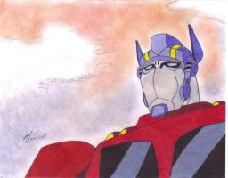 optimus prime 1 in color by ailgara
