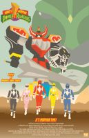Power Rangers Movie Poster by MannyHernan