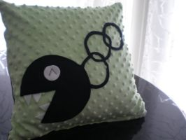 Green Chain Chomp Pillow by Omonomopoeia