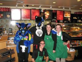 Starbucks Wolves! by The-Shy-Violinist