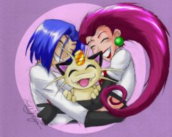 Team Rocket snuggles by Chewilicious