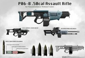 P06-B .50cal Assault Rifle by BigBadBO