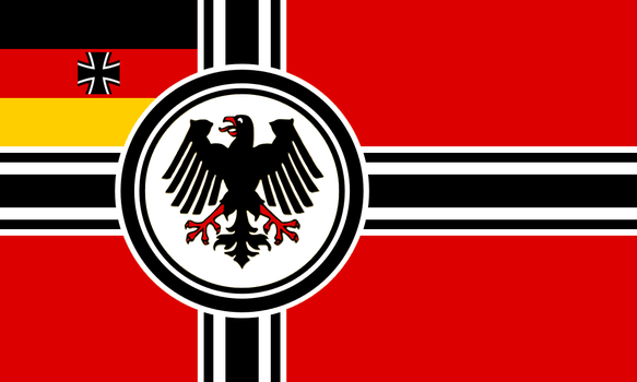 Alternate Seekriegsflagge for the BRD: Version 3 by Linumhortulanus