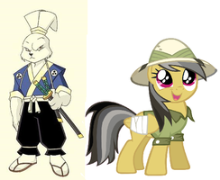 Miyamato Usagi and Daring Do by DinobotEd