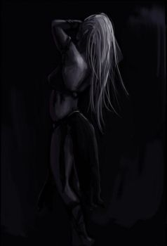Drow Sketch 2 by zacharyknoles