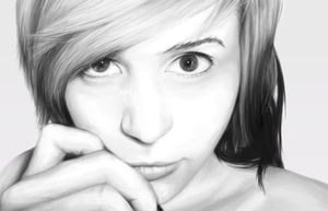 Xandra - First Ever Photo Realism Drawing by mattartiman
