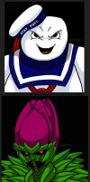Manbudra And Mister Stay Puft by Enshohma