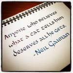 Quotation Instagrammed - Neil Gaiman by MShades