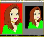 Self-Portrait (Versions 1 and 2) by junewralley