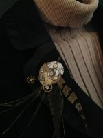 Steampunk Mechanical Brooch by NikidaEve