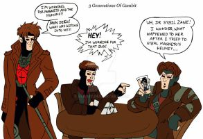 3 generations of Gambit by xero87