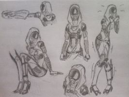 sketches Tali (4) by spaceMAXmarine