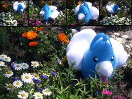 Commission: Swablu Plushie by MouseAlchemist
