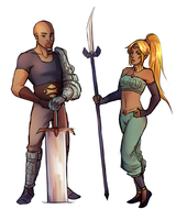 commission -- gerudo man and woman by Raven-igma