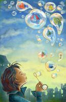 Wish Bubbles by memels