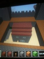 House in castle courtyard by BoscoBurns