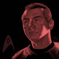 Star Trek portrait series 06 - Scotty - Pegg by jadamfox
