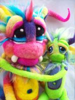 Rainbow Wallaby Pop Goblins by Tanglewood-Thicket