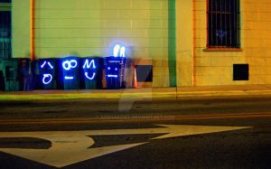 Light Graffiti 5 - Trash by aeroartist
