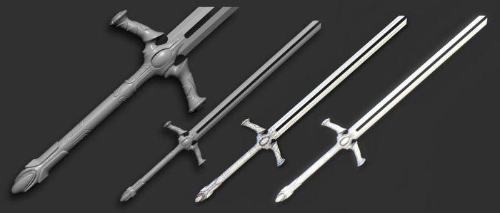 Double blade sword by MorozovIvan