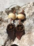 Etched Ivory Lampwork, Copper and Brasswork Leaves by Ironmountain01