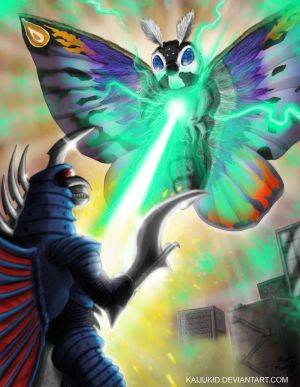 Mothra Leo vs.  Final Gigan by kaijukid