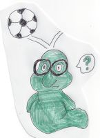 Bookworm gets hit on the head by a soccer ball by dth1971