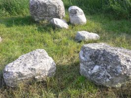 Stones Stock in the grass III by ChaosStocks