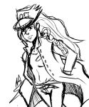 Sketch of the Day KB in Jotaro cosplay by bells123