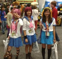 Haruhi and Angel Beats! by Some-Lost-Melody