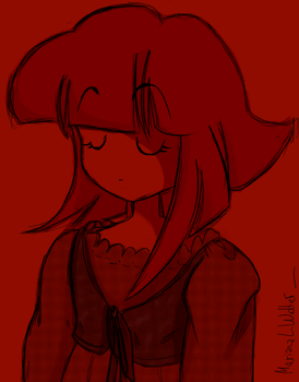 me dressing the red by RianaDruidana