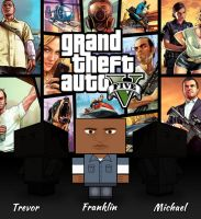 GTA V Cubeecraft: Franklin by JasperBaele