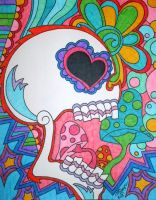 Colorful Mushroom Skull by ToniTiger415