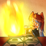Kitchen Fire (Finished YCH #2) by Martenmartes