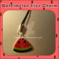 Watermelon Slice Charm by quazo